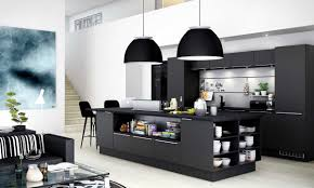Black Kitchen Appliances Ideas Contemporary Kitchen New Elegant Black Kitchen Design For Remodel