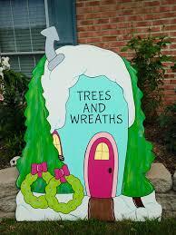 grinch yard decoration grinch yard artwhoville yard decoration whoville tree