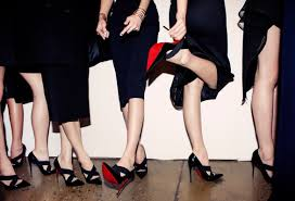 red soles raise the temperature on the catwalk at new york fashion