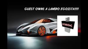 lamborghini egoista buy a guest has a lamborghini egoista roblox