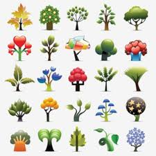 creative tree background vector set vector free download