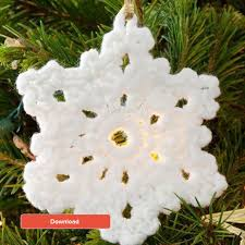 snowflakes for home start free patterns loveknitting