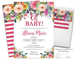 girls baby shower invitation floral baby shower invitations
