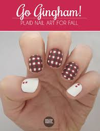 go gingham plaid fall nail art more com