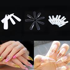 10 50 500pcs fashionable false fake nail artificial fingernails