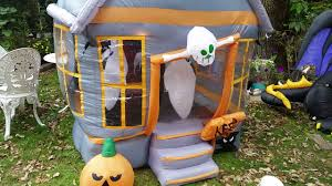 gemmy 2007 rotating haunted house inflatable pros and cons youtube