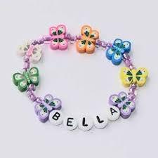 infant name bracelet children s name bracelet personalized bracelet in pink party favor