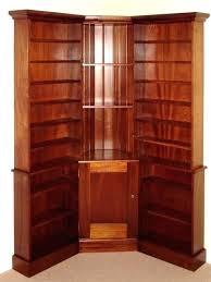 Corner Bookcase Wood Cherry Wood Corner Bookcase Sakuraclinic Co