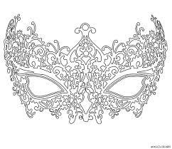 coloriage masque vénitien femme grande image birthday