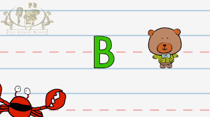 write the letter b alphabet writing lesson for children the