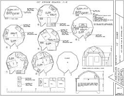 Home Building Blueprints by Geodesic Dome Home Plans Aidomes