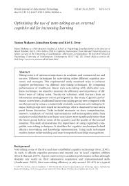 optimising the use of note taking as an external cognitive aid for in u2026