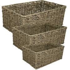 Seagrass Bathroom Storage Rectangular Seagrass Magazine Shelf Bathroom Storage Basket