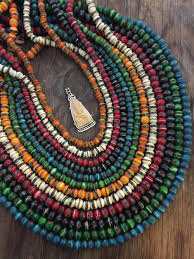 necklace from beads images Silk road 8mm 10mm yak bone beads necklace from nepal inlaid jpg