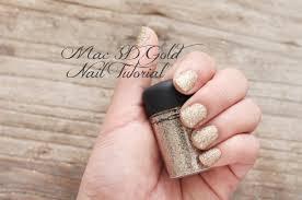mac 3d gold glitter nail tutorial youtube