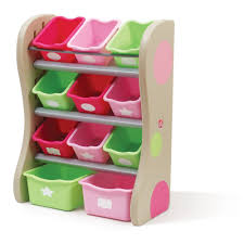 4 Tier Toy Organizer With Bins Fun Time Room Organizer Tropical Pink Best Educational Infant