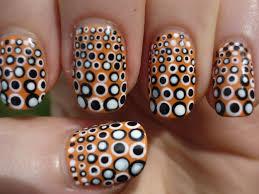 retro polka dot nail art tutorial youtube