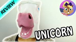 unicorn mask for halloween funny unicorn review youtube