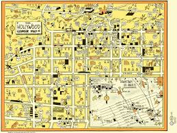 Map Of Hollywood Studios Hollywood Glamour Map 1941
