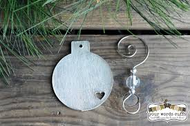 handsted custom pewter ornament personalized