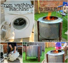 wonderful diy pit from washing machine Firepit Bricks