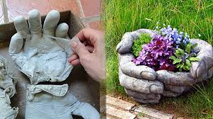 How To Make Homemade Concrete by These Diy Concrete Hand Planters Are Easier To Make Than You Think