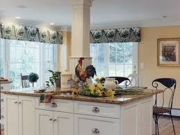 window treatments for kitchen french country rooster kitchen