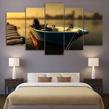 Home Decoration Paintings Online Get Cheap Fishing Boat Paintings Aliexpress Com Alibaba