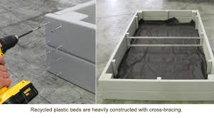 Raised Garden Bed On Concrete Patio Eartheasy Blogcedar Vs Recycled Plastic Vs Composite Raised