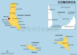 map comoros map comoros major tourist attractions maps