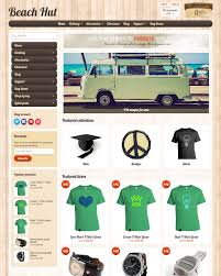 halloween website templates beach hut theme sunrise ecommerce website template