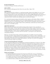 sle resume exles construction project scheduler resume exles exles of resumes
