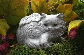 cat pet memorial garden statue grave marker
