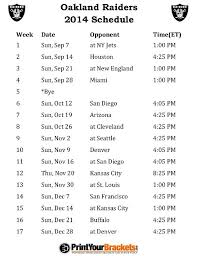 best 25 oakland raiders football schedule ideas on