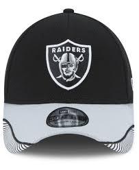 ktz oakland raiders visor hash 39thirty cap in black for lyst