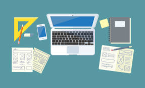 Graphic Designer Desk Creative Graphic Design And Print Sps Marketing