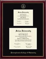 frame for diploma salus pennsylvania college of optometry