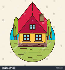 flat house icon small house icon flat style stock photo