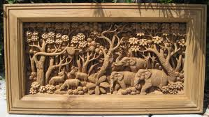 chinese carved wood panels med art home design posters
