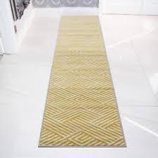 Yellow And Grey Runner Rug Yellow Mustard Grey Bordered Geometric Runner Narrow Hallway