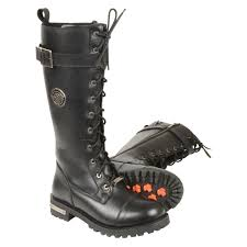 lace up moto boots milwaukee leather ladies tall lace up motorcycle boots