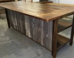 barnwood kitchen island kitchen island etsy