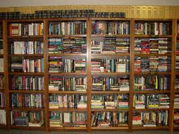 simple design cool home library wall shelving home closet