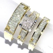 wedding trio sets women s bridal wedding ring set k yellow gold my trio rings in