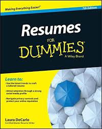 resume original speed in music resumes for dummies laura decarlo 9781118982600 amazon com books