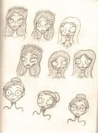 sketch time tim burton girls by bluefirerocker on deviantart