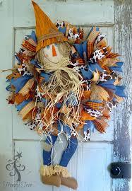 diy scarecrow wreath with legs trendy tree blog holiday decor