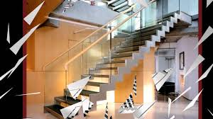 Glass Handrails For Stairs Stainless Steel Glass Railings Installed Video Youtube