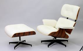 Manhattan Home Design Eames Review Eames Lounge Chair Replica White Finished In White Aniline