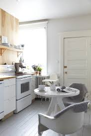 wooden kitchen canister sets white painted wood spindles kitchen scandinavian with wood floor